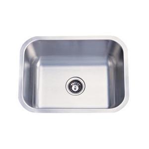 Elements of Design Centurion 23-in x 17.75-in Brushed Nickel Undermount Kitchen Sink