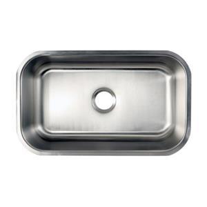 Elements of Design Centurion 30.13-in x 17.88-in Brushed Nickel Undermount Kitchen Sink
