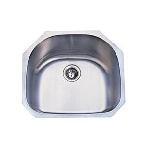 Elements of Design Centurion 23.19-in x 21.06-in Brushed Nickel Undermount Kitchen Sink