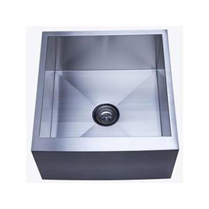 Elements of Design Denver 22.38-in x 21-in Brushed Nickel Apron Kitchen Sink