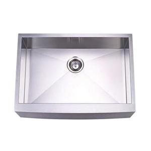 Elements of Design Denver Farmhouse 30-in x 21-in Brushed Nickel Apron Kitchen Sink