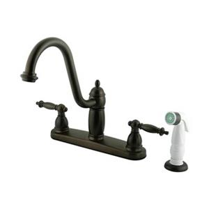 Elements of  Design Templeton 10.13-in Oil Rubbed Bronze Two Handle Kitchen Faucet with Plastic Sprayer