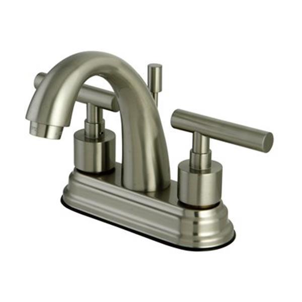 Elements of Design Nickel Manhattan Centerset Faucet