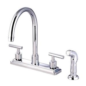 Elements of  Design Manhattan 12.50-in Chrome Two Handle Kitchen Faucet with Sprayer
