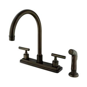 Elements of  Design Manhattan 12.50-in Oil Rubbed Bronze Two Handle Kitchen Faucet with Sprayer