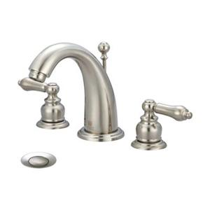 Pioneer Ind. Brentwood Brushed Nickel Two Handle Widespread Faucet
