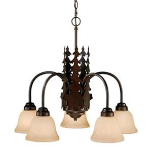 Cascadia Bozeman 5-Light Bronze Rustic Bear Chandelier