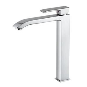 WS Bath Collections Level Polished Chrome Single Lever Washbasin Mixer Without Waste