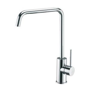 WS Bath Collections 12.80-in Stainless Steel Light Single Handle Kitchen Faucet