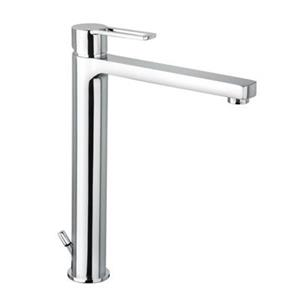 WS Bath Collections Ringo Polished Chrome Lever High Spout Washbasin Mixer Without Waste Single Hole Faucet