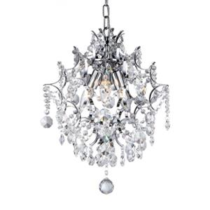 Fesis Warehouse of Tiffany Crystal Joy 3-Light Chrome Chandelier