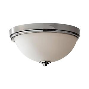 Feiss Malibu Polished Nickel 3-Light Ceiling Flush Mount Light