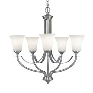 Feiss Barrington 5-Light Brushed Steel Chandelier