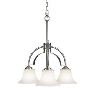 Feiss Barrington 3-Light  Brushed Steel Chandelier