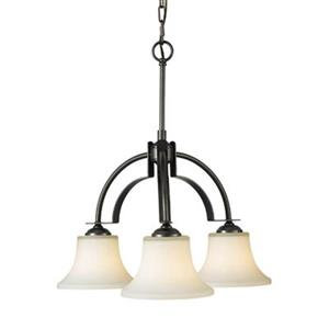 Feiss Barrington 3-Light Oil Rubbed Bronze Chandelier