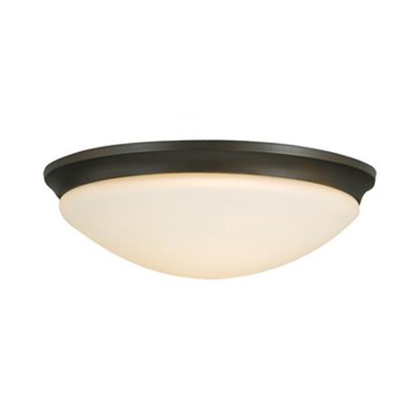 Feiss Barrington Oil Rubbed Bronze 3-Light Flush Mount Ceiling Light
