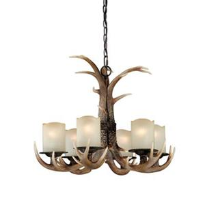 Cascadia Yoho 6-Light Bronze Rustic Antler Chandelier