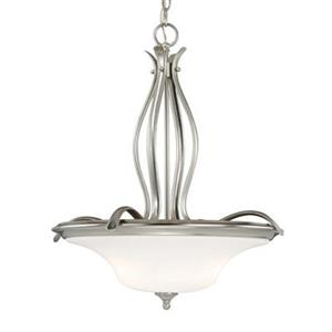 Cascadia Lighting Sonora 20-in Satin Nickel Large Bowl Pendant
