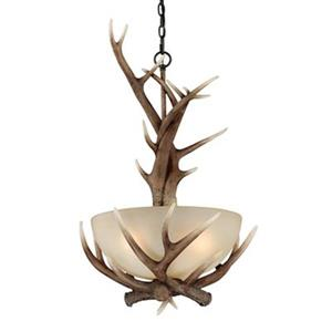 Cascadia Lighting Yoho 19.5-in Black Walnut Large Bowl Pendant