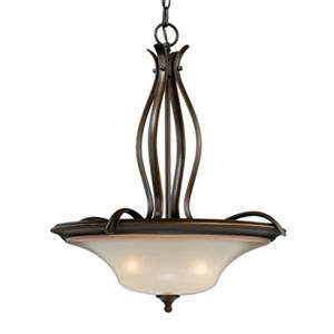Cascadia Lighting Sonora 20-in Venetian Bronze Large Bowl Pendant
