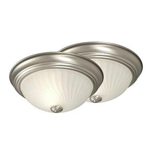 Galaxy Pewter Flush Mount Ceiling Light (Set of 2)