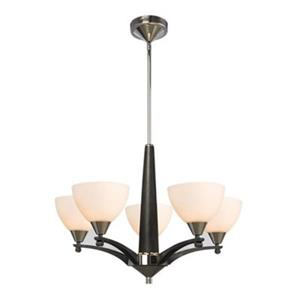 Galaxy Lighting Callista 5-Light Chrome/Black Chandelier