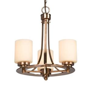Galaxy Lighting Logan 3-Light Antique Copper Patina Chandelier