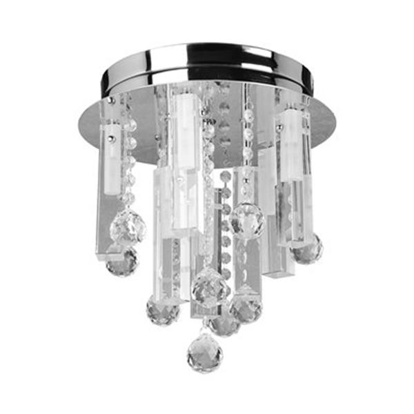 Amlite Lighting Hampton Chrome Flush Mount Multi Light