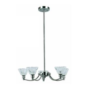 Amlite Lighting Aquarius 5-Light Brushed Nickel Chandelier