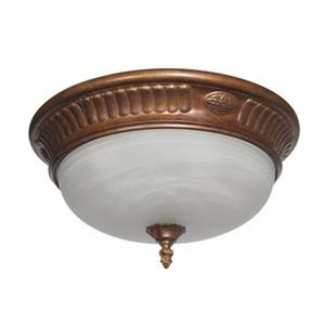 Amlite Lighting Spanish Peruvian Bronze Flush Mount Ceiling Light