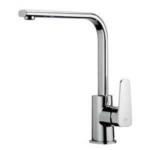 WS Bath Collections Fonte 12.30-in Single Lever Kitchen Faucet with Flat Swivel Spout