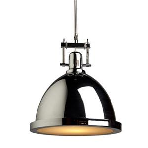 Steven & Chris by Artcraft Chrome Small Broadview 1 Light Metal Pendant