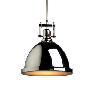 Artcraft Lighting Steven & Chris Chrome Large Broadview 1 Light Metal Pendant