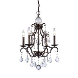 Artcraft Lighting Vintage 4-Light Distressed Bronze Chandelier