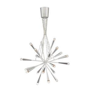 Eurofase Lighting Zazu Collection 29.5-in x 29.5-in Chrome Sunburst Pendant Light