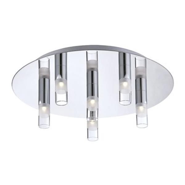 Eurofase Cube Chrome 6-Light Flush Mount Light