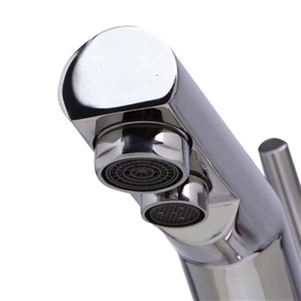 ALFI Brand 6.88-in Solid Stainless Steel Kitchen Faucet With Built In Water Dispenser