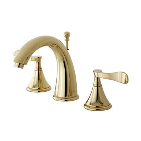 Elements of Design Century Polished Brass Widespread Lavatory Faucet