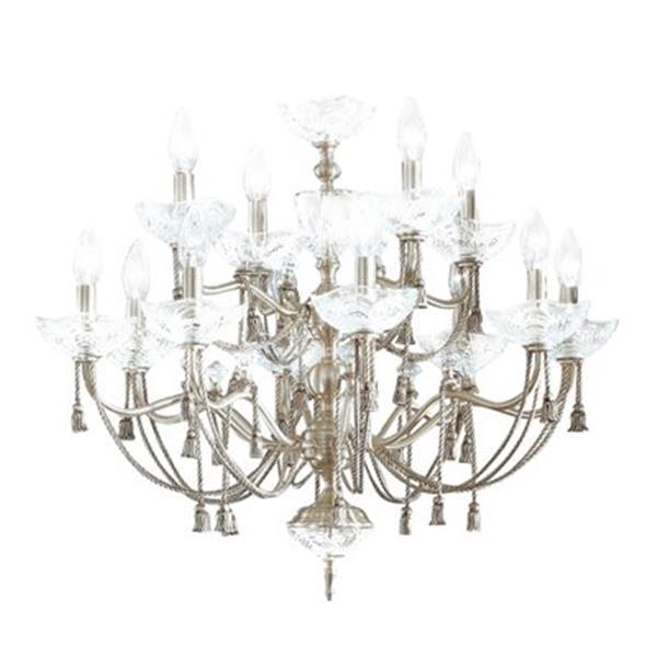 Classic Lighting Devonshire 12-Light Satin Nickel Chandelier