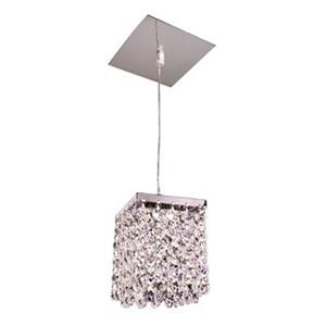 Classic Lighting Bedazzle Collection 4-in x 5-in Crystalique-Plus Crystal Pendant Light