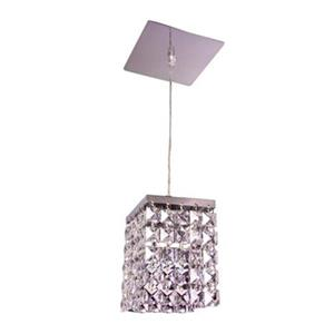 Classic Lighting Bedazzle Collection 4-in x 5-in Crystalique-Plus Squares Crystal Pendant Light