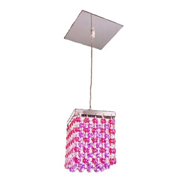 Classic Lighting Bedazzle Collection 4-in x 5-in Swarovski Elements Boudreaux Red Blue and Violet Crystal Pendant Light