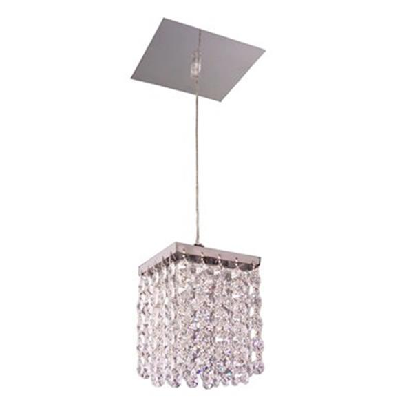 Classic Lighting Bedazzle Collection 4-in x 5-in Swarovski Spectra Crystal Pendant Light