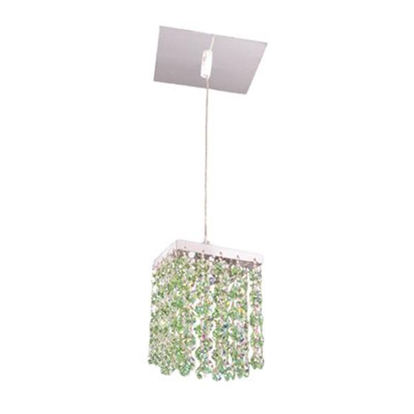 Classic Lighting Bedazzle Collection 4-in x 5-in Swarovski Elements Light Peridot Green Crystal Pendant Light