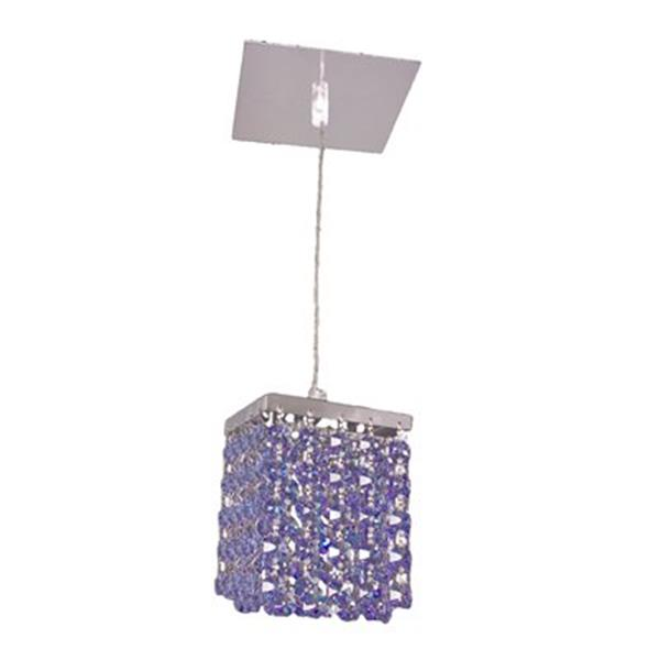 Classic Lighting Bedazzle Collection 4-in x 5-in Swarovski Elements Medium Sapphire Crystal Pendant Light
