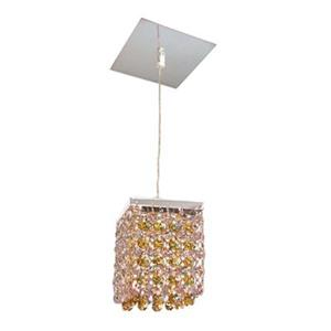 Classic Lighting Bedazzle Collection 4-in x 5-in Swarovski Elements Clear and Light Topaz Crystal Pendant Light