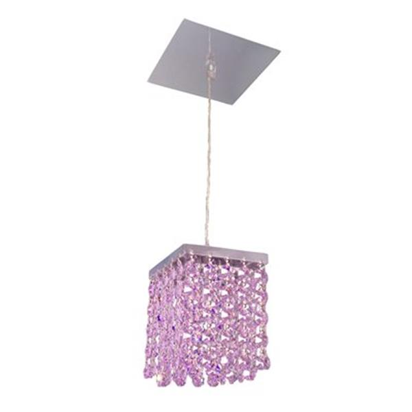 Classic Lighting Bedazzle Collection 4-in x 5-in Swarovski Elements Violet Crystal Pendant Light