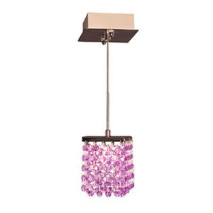 Classic Lighting Bedazzle Collection 4-in x 5-in Crystalique-Plus Violet Crystal Pendant Light