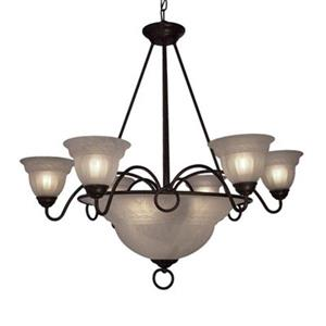 Classic Lighting Livorno 9-Light English Bronze Large Pendant