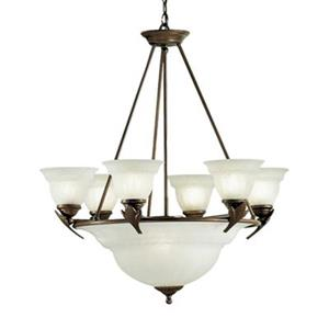 Classic Lighting Roma 9-Light English Bronze Chandelier